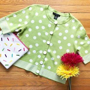 VINTAGE • lime in the polka dot cardigan 🥥